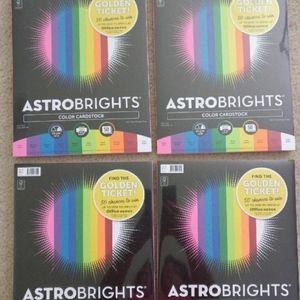 Bundle 4 Astrobrights Color Cardstock New